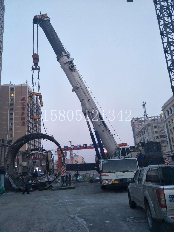 嘉兴200吨吊车安装盾构机